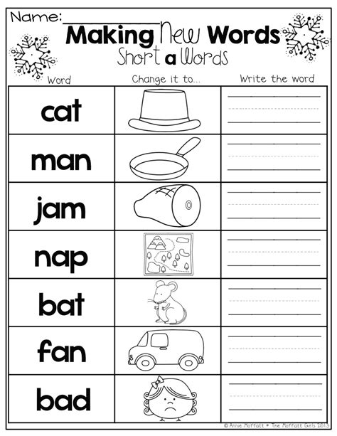 Free Worksheets For Kindergarten On Phonics Rcnschool