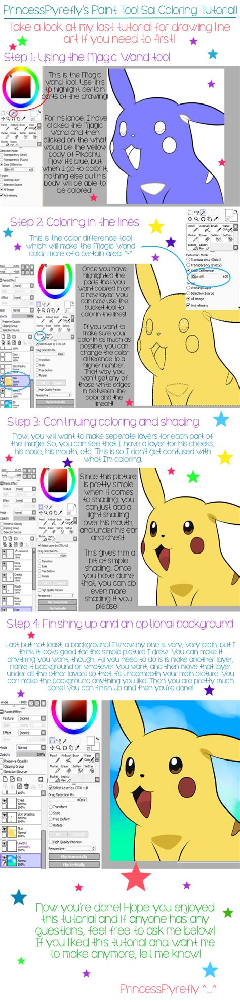 Coloring Tutorial Sai by Paint Tool Sai Coloring Tutorial By Princesspyrefly On