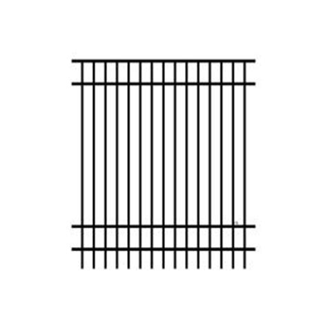 home depot fence sections jerith jefferson 6 ft h x 6 ft w aluminum black fence