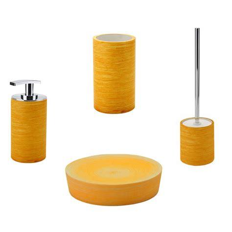 Accessori Bagno Appoggio Set Da Appoggio Accessori Bagno Gedy Sole In Resina Arancio