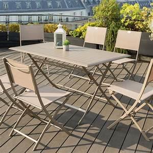 Salon De Jardin Pliant : table de jardin pliante aluminium azua 150 x 80 cm ~ Dailycaller-alerts.com Idées de Décoration
