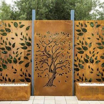 home decoration corten steel metal indoor tree fencing