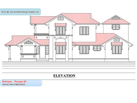 kerala home plan  elevation  sq ft kerala home