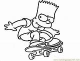Simpson Coloring Pages Skateboard Printable Bart Simpsons Drawing Homer Cartoons Cartoon Maggie Sheets Boy Coloringpages101 Colouring Draw Lisa Drawings Super sketch template