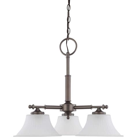 glomar 3 light aged pewter dinette fixture with frosted