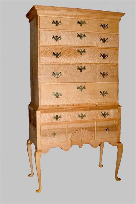 Birdseye Maple Highboy Dresser by Highboy Chest Of Drawers In Birdseye Maple Thinwood