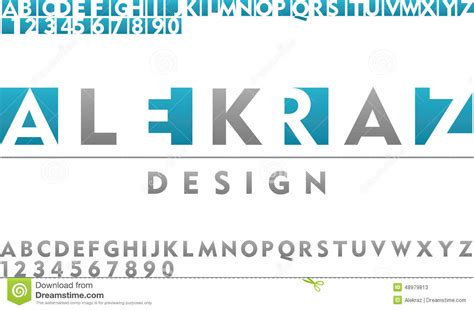 Vector Font Type For Logo Design Stock Vector