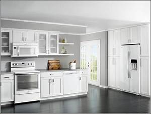 white kitchen cabinets with white appliances oak kitchen With kitchen colors with white cabinets with modern 3d wall art