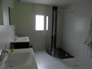 stunning salle de bain douche italienne et baignoire ideas With porte d entrée alu avec salle de bain double vasque