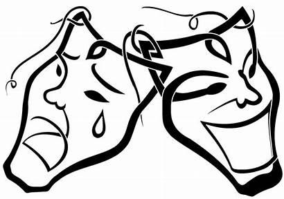 Drama Masks Clipart Clip Mask Draw Sad