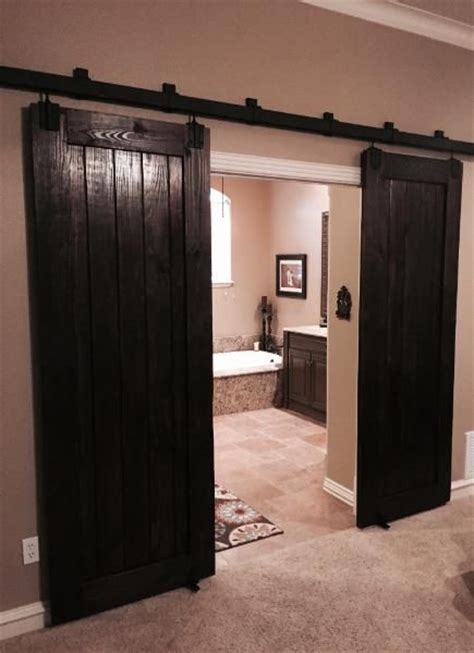 knotty pine sliding barn door   home decortive diy