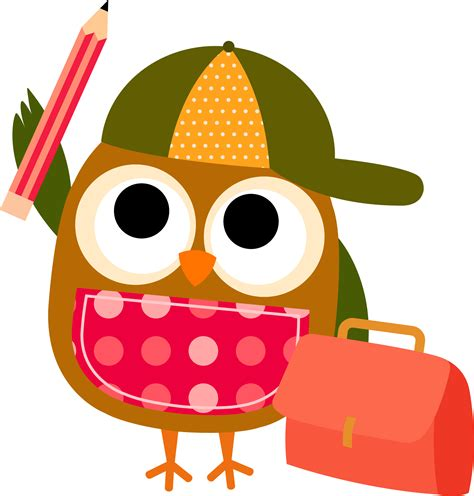 School Owl Clip Art