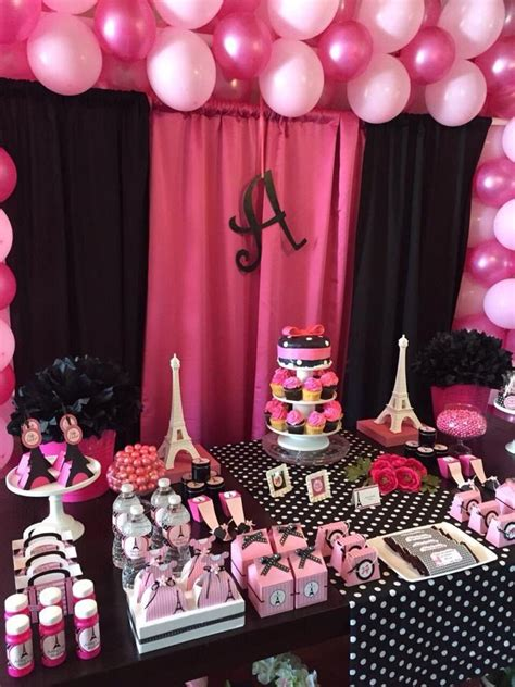 paris party decorations ideas  pinterest