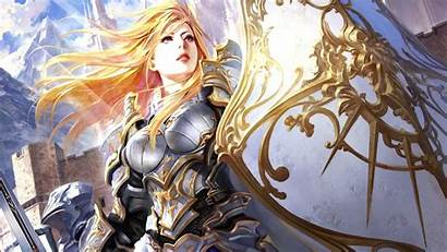 Shield Female Fantasy Legend Knight Armor Cryptids