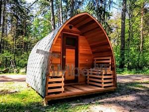 Sauna Für Garten : au ensauna mit vorraum und holz elektroofen igloo mit panoramafenster ~ Buech-reservation.com Haus und Dekorationen