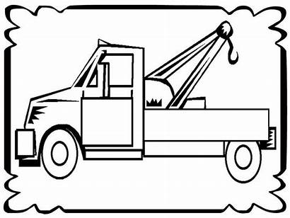 Tow Coloring Truck Pages Frame Trucks Drawing