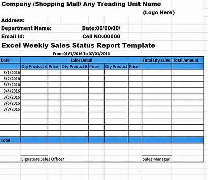 Weekly Report Template Activity Sales Excel Templates