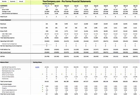 Financial Statement Model Template - Costumepartyrun