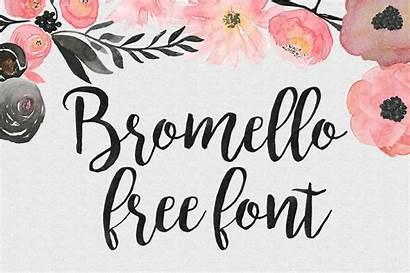 Bromello Font Fonts Calligraphy Pretty Cricut Brush