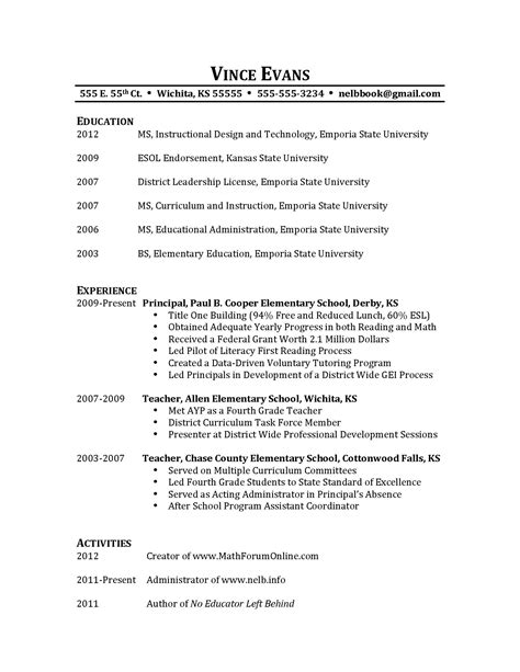 Information To Put On A Resume by Resumes Chapter 5 Forum 171 No Educator Left