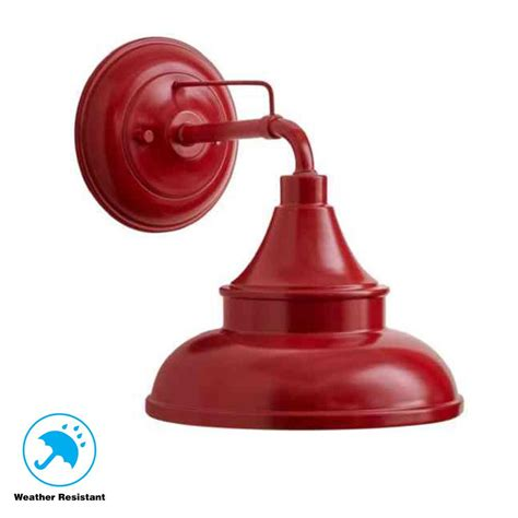 red outdoor wall lights hton bay colonial red outdoor barn light wall