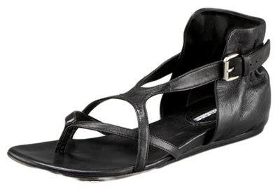 lavender label vera wang nita flat thong sandal top