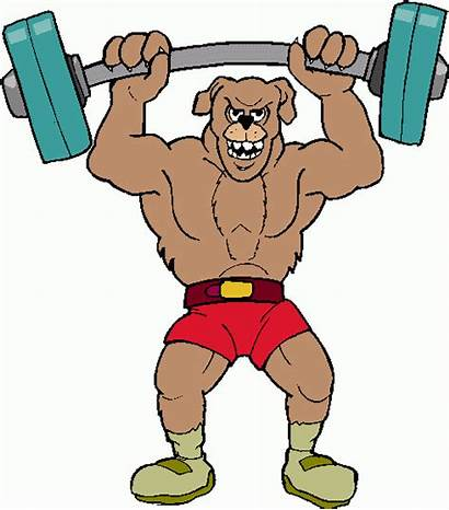 Lifting Weight Cartoon Clip Clipart Weightlifter Animated