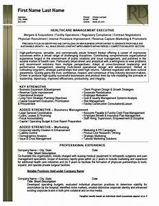 Healthcare Resume Templates Health Care Management Executive Resume Template Premium