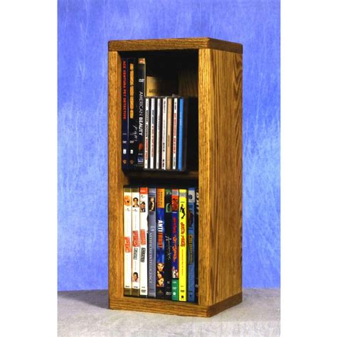 Cd Cupboards by Wood Shed Small Capacity 2 Shelf Cd Dvd Rack Oak 215