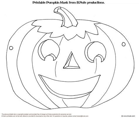 printable mask template bnute productions october 2010