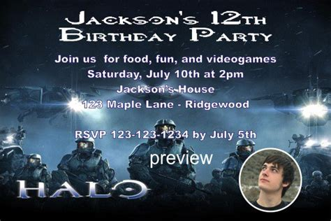 halo printable invitations