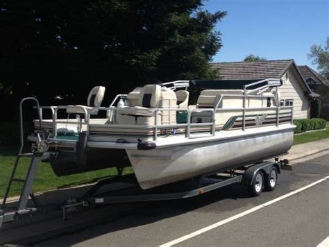 Used Voyager Pontoon Boats For Sale by 1999 21 Foot Voyager Fish Pontoon Other For Sale In