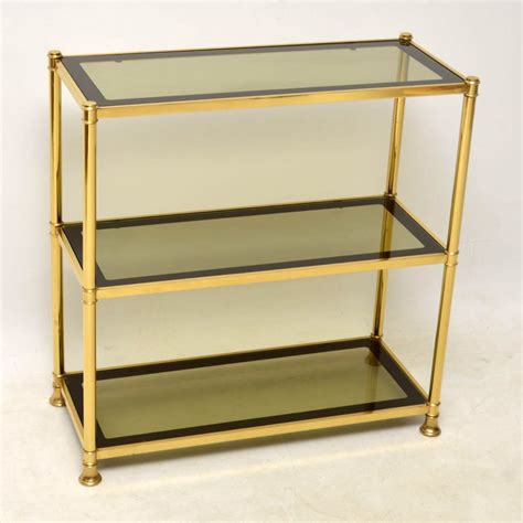 brass bookcase 1960 s vintage brass bookcase cabinet side