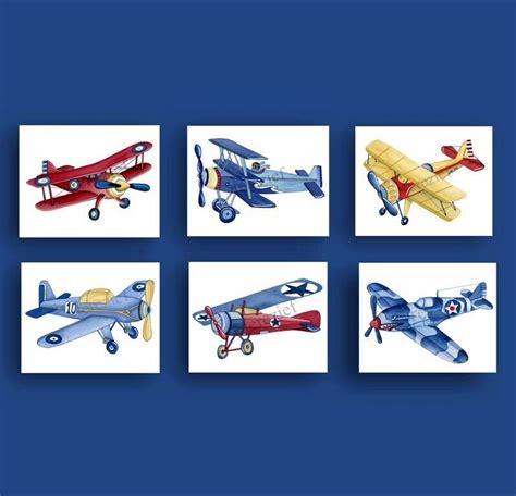 boy airplane nursery art vintage airplane art print