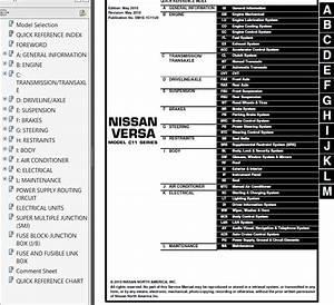 Nissan Versa Model C11 Series 2011 Service Manual Pdf