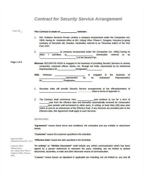 simple service agreements word   premium