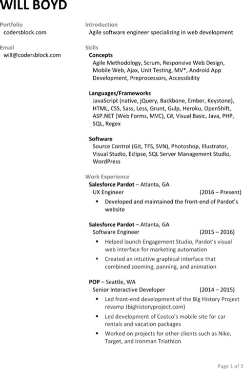 interactive resume templates for free formtemplate