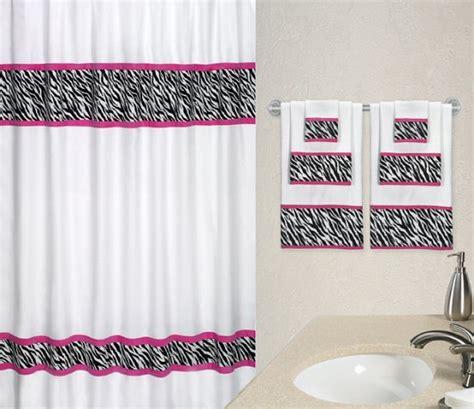 zebra shower curtain white black pink