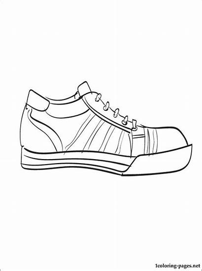 Coloring Sneakers Pages Converse Printable Shoe Sneaker