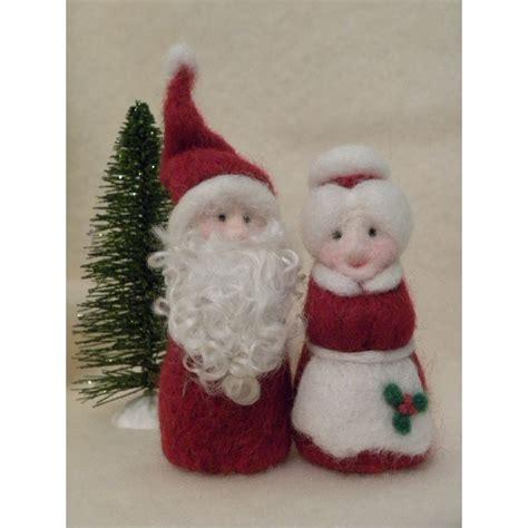 etsy shop allfiberarts santa   claus needle felt