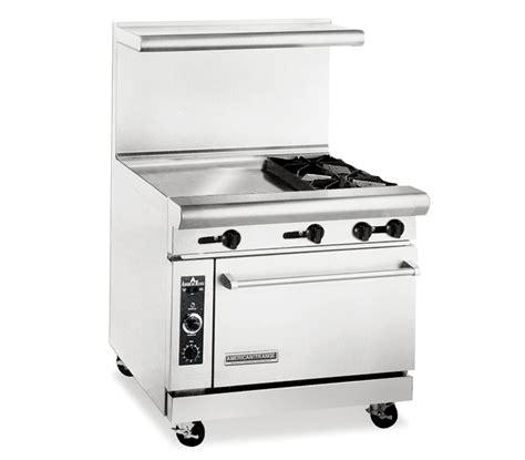 american range arg   commercial gas range   burners  griddle oven