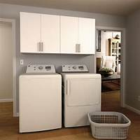 cabinets for laundry room Modifi Madison 60 in. W Mocha Open Shelves Laundry Cabinet Kit-ENL60B-MMG - The Home Depot