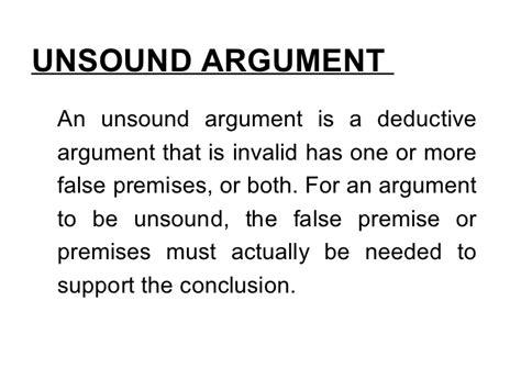 logic argument unit unsound deductive