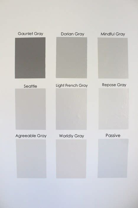 nine gray paint colors we put to the test for your home within the grove