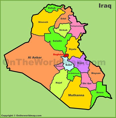 administrative map  iraq