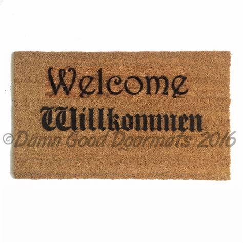willkommen doormat willkommen doormat quot welcome in quot in german doormats