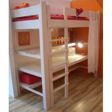 lit surélevé bureau lit mezzanine enfant avec bureau