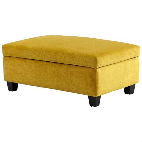fabric storage ottoman bench yellow textured fabric storage bench ottoman cyandesign 08351