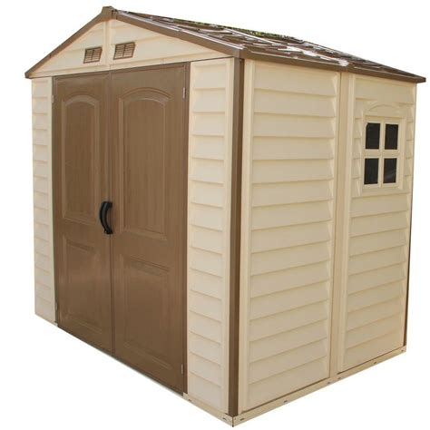 menards resin storage sheds duramax building products store all 8 ft x 6 ft vinyl