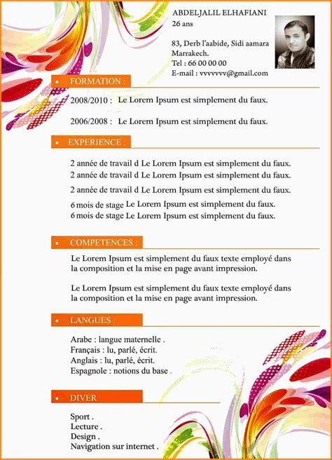 exemple de cv commis de cuisine exemple cv cuisinier lettre de motivation 2018